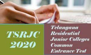 TSRJC 2020 , TSRJC CET 2020  TSRJC Entrance:: Notification, Exam date, Eligibility, Online Application form