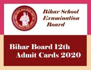 BSEB 12th Admit Card 2020 Download, Bihar Board Inter Admit Card