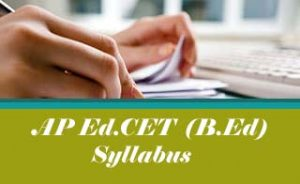 AP EdCET Syllabus 2020, AP BEd Syllabus 2020 Download Pdf