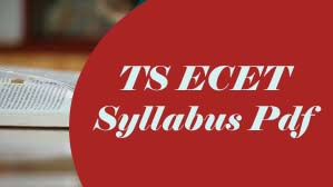 TS ECET Syllabus 2020 Download Pdf of TS ECET 2020 Syllabus