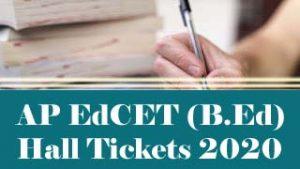 AP EdCET Hall ticket 2020 Download, AP EdCET Hall ticket Download 2020