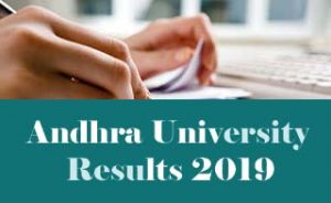 Andhra University BA 2nd Semester March Results 2019, AU UG Results 2019