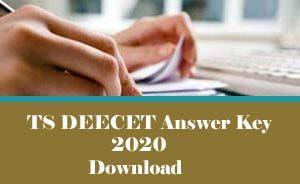 TS DEECET Answer Key 2020 Download, TS TTC Answer Key 2020, TS DIETCET Answer Key 2020