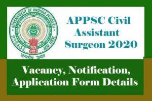 APPSC Civil Assistant Surgeon Recruitment 2020, AP Civil Assistant Surgeon Upcoming Recruitment 2020