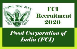 FCI Recruitment 2020 Upcoming FCI Vacancy 2020, Junior Engineer, AG-II, AG-III, Steno Grade-II, Typist (Hindi), Watchmen